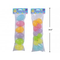 "Easter Fillable Eggs - Glow-in-the-Dark ~ 2.5"" / 12 per pack + 3.5"" / 6 per pack"