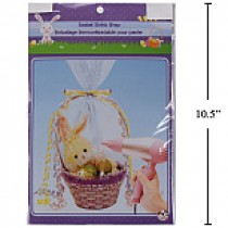 "Easter Basket Shrink Wrap w/3 Ribbons ~ 24"" x 30"""