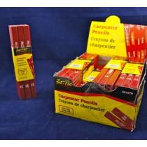 Fat-Pat Carpenter Pencils - Hard Lead ~ 12/pc