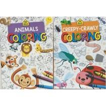 Animals / Creepy Crawlers Coloring Books