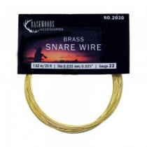 Brass Snare Wire ~ 22 gauge / 25'