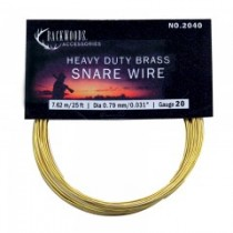 Brass Snare Wire ~ 20 gauge / 25'