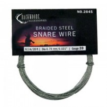 Braided Stainless Steel Snare Wire ~ 20 gauge / 20'