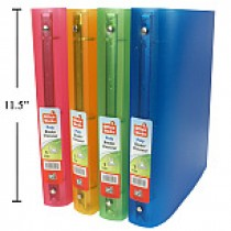 "1"" Poly Binders ~ 4 assorted colors"