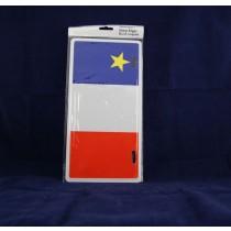 Acadian Flag Metal License Plate