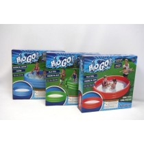 "Inflatable Solid Bright Colors 3-Ring Pool ~ 72"" x 13"""