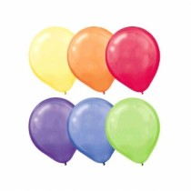 "Assorted Color Round Balloons - 12"" ~ 10 per pack"