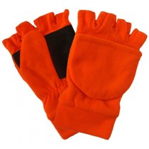 Fl. Orange Polar Fleece Glove - Mitt