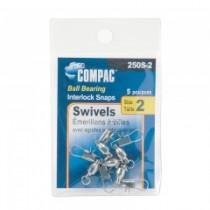 Compac Nickel Ball Bearing Swivel w/Interlocking Snaps