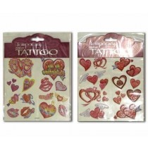 Kid's Heart Temporary Tattoos with Glitter