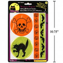 Halloween Reflective Safety Patches ~ 4 per pack