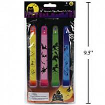 "Halloween Glow Sticks - 6"" ~ 4 per pack"