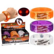 Halloween LED Light-Up Bracelets ~ 12 per display