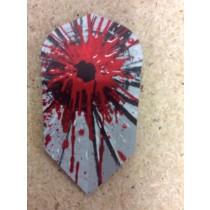 Dartworld Broken Glass ~ Slim Red Splatter