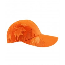 Fluorescent Orange Cap w/Moose Embroidery