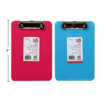 "PVC Clipboard 6"" x 8"" ~ 2 colors"