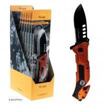 "Multi Purpose Folding Blade Knife - 3.5"" Blade ~ Bright Orange"