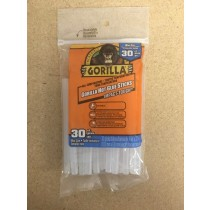 "Gorilla Hot Glue Sticks for Glue Guns - 4"" Mini ~ 30 per pack"