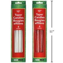 """Christmas Tapered Candle - 10"""" ~ 4 per pack"""