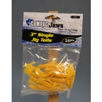 "Compac 3"" Single Jig Tails ~ Yellow"