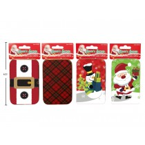 Christmas Tin Gift Card Holder