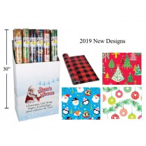 "Christmas Single Roll Wrapping Paper ~ 30"" x 120"""