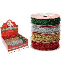 Christmas Sparkle Flex-Tie Ribbon ~ 9' / 2.74M
