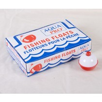 Compac Red & White Plastic Bobbers ~ 1-1/2""