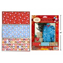 "Christmas Giant Plastic Gift Bag - 36"" x 44"" ~ 1 per pack"