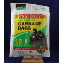 Garbage Bags - Black ~ 10 per bag