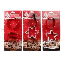 Christmas Metal Cookie Cutters ~ 3 per pack