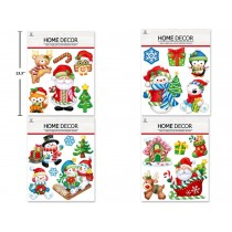 Christmas Wall Decor with Foil ~ 4 assorted