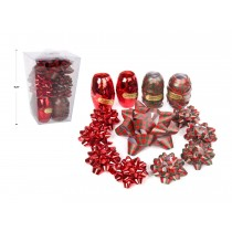 Christmas Red & Buffalo Plaid Bows & Ribbons Set