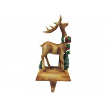 Christmas Polyresin Deer Stocking Holder
