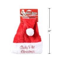 Christmas Baby's 1st Christmas Red Plush Santa Hat