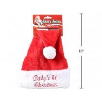 Christmas Baby's 1st Christmas Red Plush Santa Hat