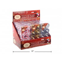 Christmas Flickering LED Tealights ~ 8 per pack