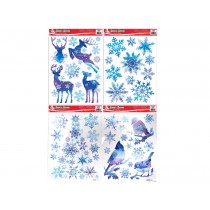 Christmas Frozen Glitter Window Clings ~ 4 assorted