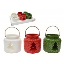 Christmas Ceramic Lantern Tealight Holder