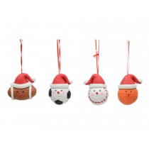 Christmas Clay Dough Sport Themed Tree Ornament