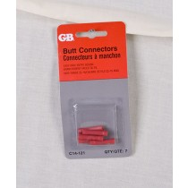 Butt Splice Connectors 22-18 AWG ~ Red