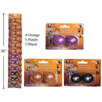 Halloween Flickering LED Glitter Tealights ~ 2 per pack