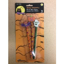 Halloween Pencils w/Eraser Tops ~ 3 per pack