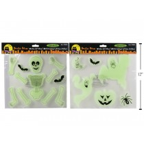 Halloween Glow in the Dark Gel Window Clings