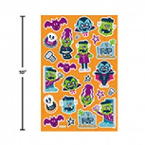 Halloween Foil Embossed Stickers