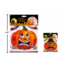 Halloween Pumpkin Face Decoration Sticker Set