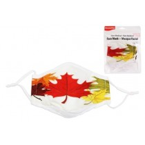 Adult Size Cloth Face Mask - 3 Layer ~ Maple Leafs