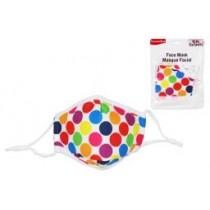Kid Size Cloth Face Mask - 3 Layer ~ Polka Dots