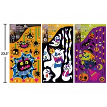 Halloween Glitter DIY Window Clings ~ 3 assorted