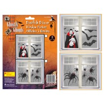 Halloween Window Posters ~ 2 per pack